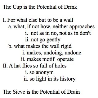 the cup is the potential of drink